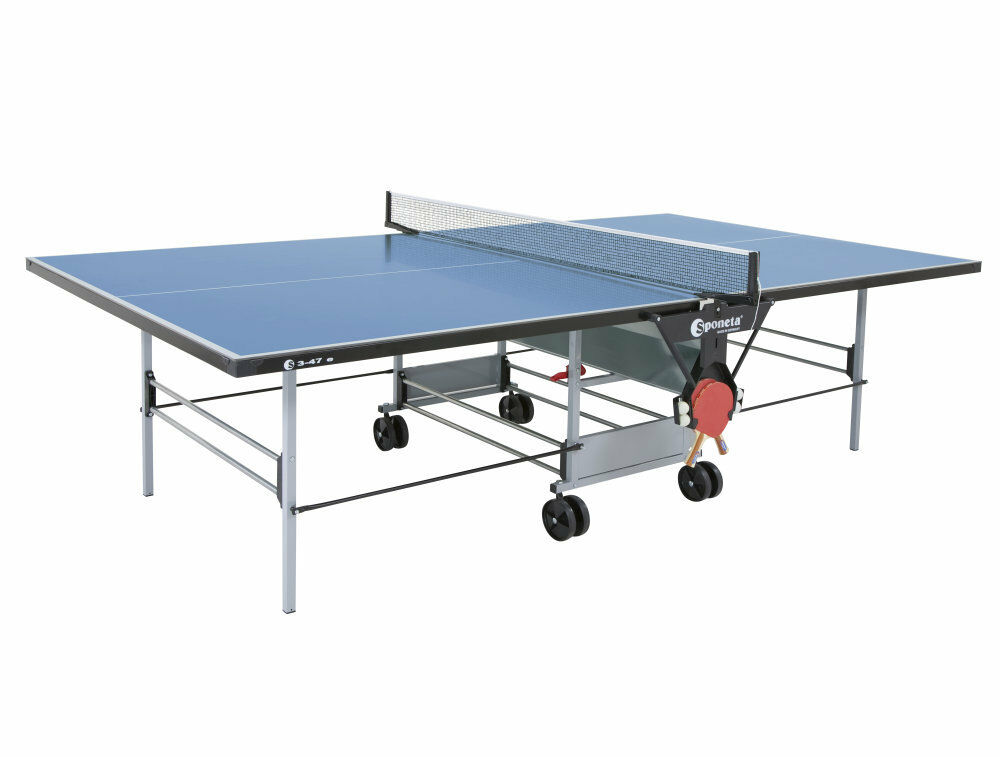 Sponeta S 3-47e outdoor Tischtennisplatte Blau wetterfest incl. Netz