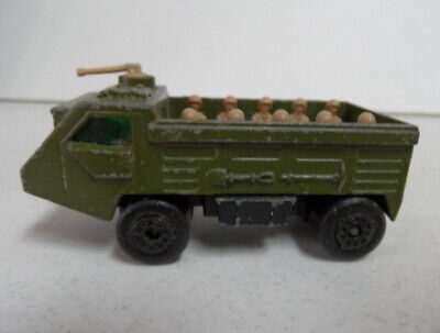Vtg 1976 LESNEY Matchbox Superfast No. 54 Military PERSONNEL CARRIER Olive Green