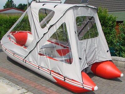 Schlauchbootzelt für Schlauchboote 3,20m/3,40m oder auch feste Boote Grau