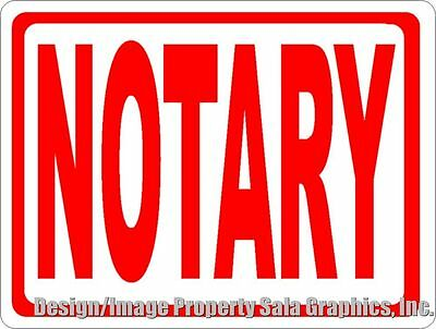 Notary Sign. Size Options. Business Services Provided Of Public Notaries