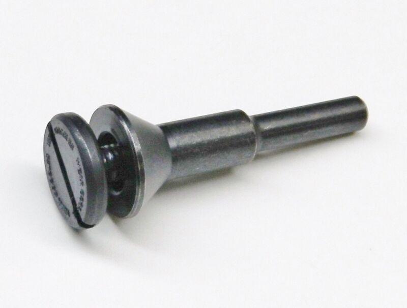 """Mandrel 3/8"""" Wheel Holder with 1/4"""" Shank Bell Head Wheel Adapter 1/4"""" Capacity"""