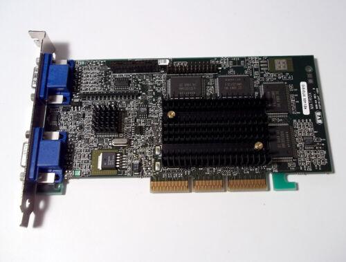 Vintage Matrox Millennium DA-MTX040 G400 Dual AGP 32MB Video Graphics Card