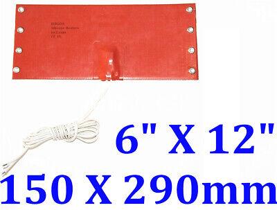 6 X 12 150 X 290mm 200w Thermostat 65c Car Truck Fuel Diesel Filter Heater Wvo