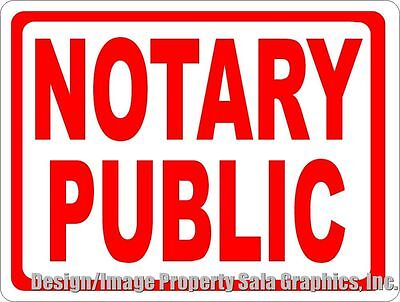 Notary Public Sign. Size Options. Business Services Provided Of Notaries