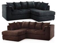 🚚🚛SALE END SOON 🚚🚛Benson Jumbo Cord 3 and 2 Set or Corner Sofa SAME DAY DELIVERY GUARANTEE