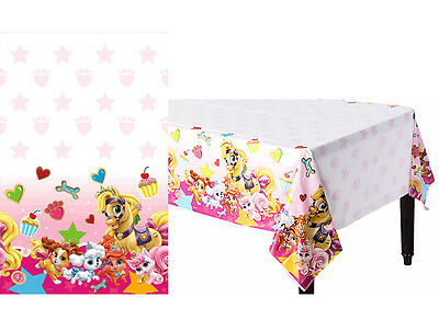 Disney Princess Palace Pets Plastic Table-Cover Birthday Decoration Party Supply - Palace Pets Birthday Party