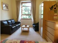 FESTIVAL LET, double room, large, sunny, top floor, in central flat, for fringe, shared with one