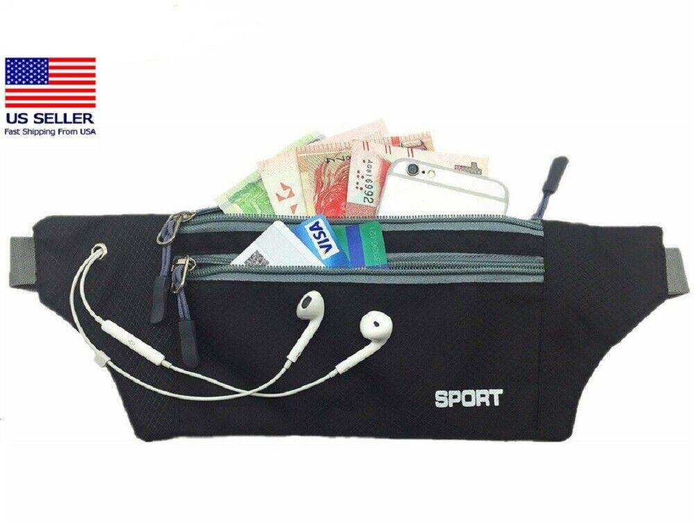 Waterproof Running Belt Bum Waist Pouch Fanny Pack Camping Sport Hiking Zip Bags Bags