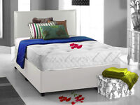 DOUBLE DIVAN BED WITH ORTHOPEDIC MATTRESS-DELIVERED FOR FREE