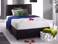 FAST DELIVERY //DOUBLE DIVAN BED BASE INCLUDING MATTRESS (Headboard Optional)