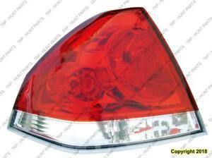 Tail Light Driver Side Chevrolet Impala 2006-2013