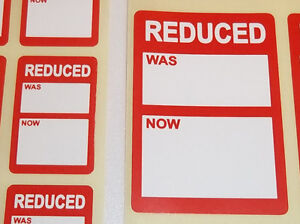 Bright-Red-Reduced-Sale-Clearance-Price-Point-Stickers-Swing-Tag-Sticky-Labels