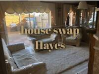 3 bedroom house Hayes Middlesex council swap looking to move to Surrey