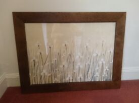 Chunky Brown Picture Frame 83 x 63 cm