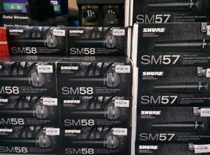 SHURE SM57 AND SM58 FOR SALE - BRAND NEW - AMAZING PRICE - INDUSTRY STANDARD!!!  $129