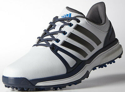 Adidas Mens adiPower Boost 2 Golf Shoe Q44661 Size 8.5 Medium White/Blue