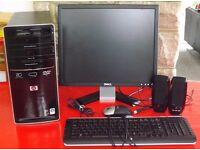 HP Pavilion P6107UK Tower PC, Screen, All-in-One Printer, Speakers, Mouse and Keyboard for sale