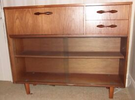 Bureau with Glass fronted bookcase
