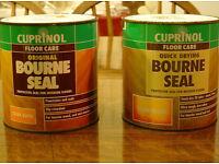 2 x 1 Litre tins Cuprinol Bourne Seal polyurethane floor varnish