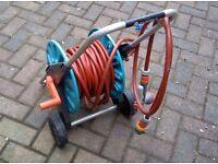 Gardena Classic 20m Hose Reel Trolley Set with Spray Gun