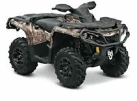 2015 Can-Am Outlander 650 XT $31.49/wk (120 months @ 7.99%)