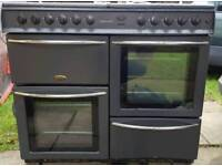 Belling 100cm dual fuel range cooker with extractor delivered today