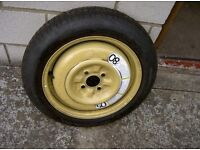 Space saver wheel and tyre 4 stud