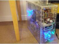 Quad Core Gaming PC, X4 955, HD 5870 GPU, Asus Crosshair Formula,, Windows 8.1
