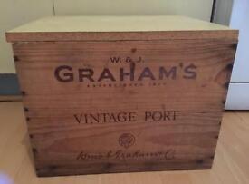 Vintage shabby chic wine box / storage