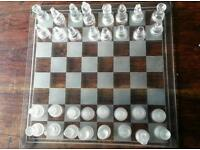 Large glass chess board