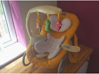 CHICCO BABY BOUNCER YELLOW RECLINE FROM BIRTH