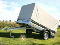 HIGH QUALITY TIPPING BED TRAILER BRAND NEW CAMPING,QUAD,MOBILITY,LAWN,MOWER EASY LOAD NEW ONLY £950