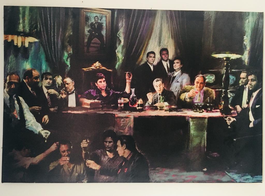 Scarface, Goodfellas, Godfather Canvas (Money, Power, Respect)