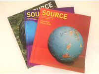 Three back issues of Source Magazine