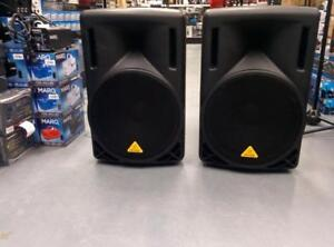*USED* BEHRINGER B215 XL SPEAKERS BUNDLE - INCLUDES 2 SPEAKERS,PHONIC MIXER,STANDS, AND MICROPHONE - AMAZING PRICE! $650