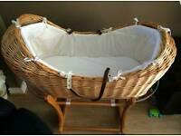 Moses basket, peanut crib