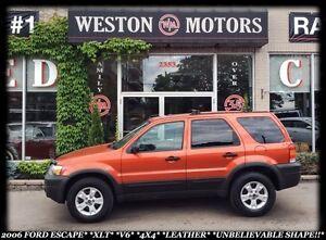 2006 Ford Escape XLT*V6*4X4*LEATHER*CERT & E-TESTED*