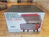 NEW - Crosley Bermuda Dansette Portable Vinyl Turntable with Built In Stereo Speakers