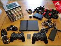 PS2 console bundle. 11 games, 2 controllers, memory card and more