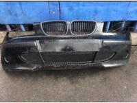 BMW 1 Series 2006 E87 front bumper in black