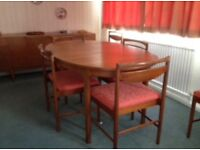 Extending Dining Table plus 6 Chairs by McIntosh in the Danish Style