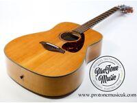 Yamaha FG750S Dreadnought Acoustic Guitar Natural Gloss Finish