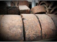 Old reclaimed half round bricks