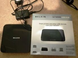 Belkin network to USB hub: Put USB's onto your network