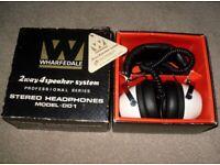 Wharfedale DD1 2 Way 4 Speaker System Professional Series Stereo Headphones 1970