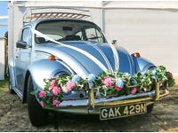 Classic VW Beetle chic wedding car hire / photo shoot / Bristol, Bath & South West