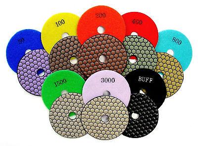 4 Dry Diamond Polishing Pads For Granite Marble Stone - 8pcs Set