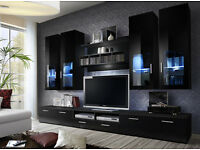 Modern Wall Unit TV Display Living Room High Gloss Furniture Cabinet TV Stand