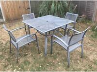 Lovely metal garden table and chair set