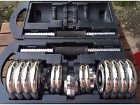 York Fitness 15kg Chrome Dumbbell Set & Case (used) - £15
